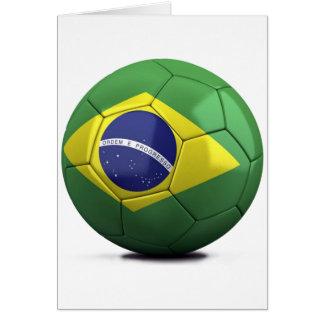 Brazil Flag Ball Card