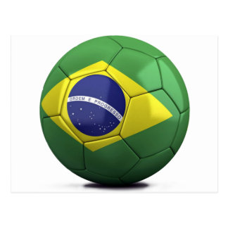 Brazil Flag Ball Postcard