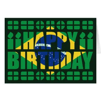 Brazil Flag Birthday Card