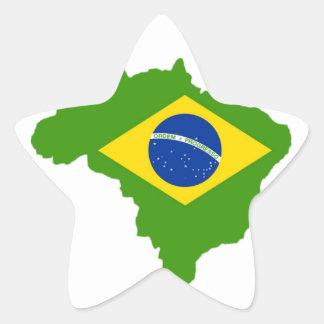 Brazil flag Brazil Star Sticker