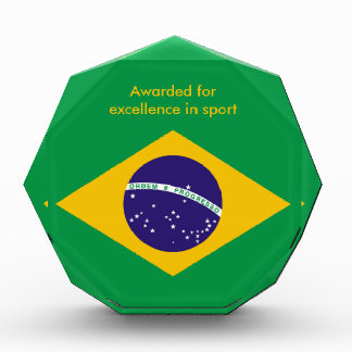 Brazil flag Brazilian Acrylic Award