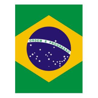 Brazil flag Brazilian Postcard