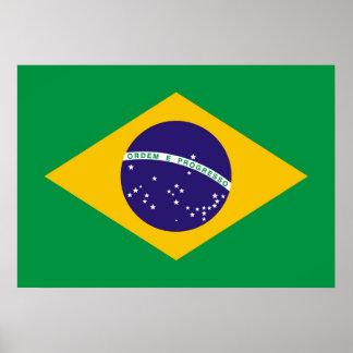 Brazil flag Brazilian Poster