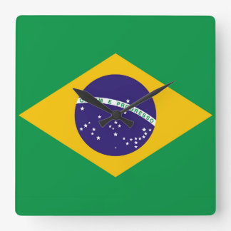Brazil flag Brazilian Square Wall Clock