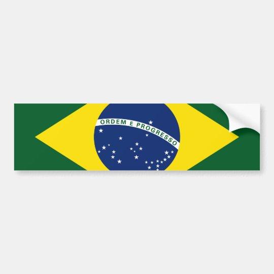 Brazil flag bumper sticker