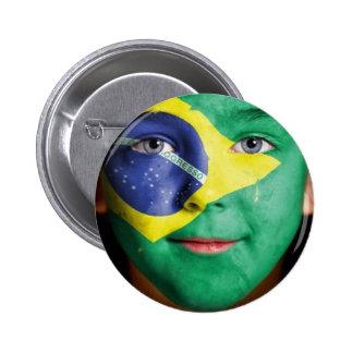 Brazil Flag Pinback Buttons