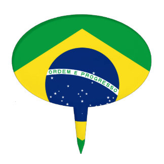 Brazil Flag Cake Topper