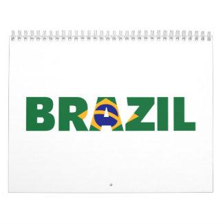 Brazil flag calendar