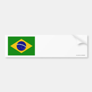Brazil Flag Car Bumper Sticker