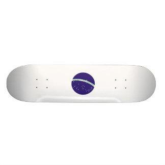 Brazil Flag Center Orb Skateboard Deck