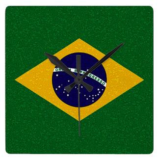 BRAZIL FLAG Clock