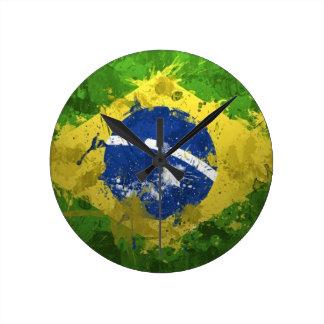 Brazil-Flag- Wallclock