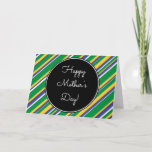 """[ Thumbnail: Brazil Flag Colors """"Happy Mother's Day"""" Card ]"""