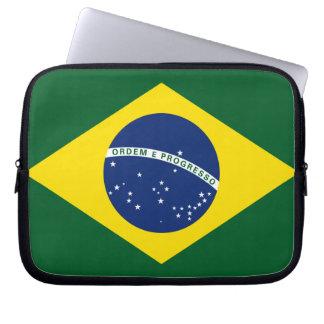 Brazil flag computer sleeves