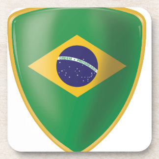 Brazil Flag Beverage Coaster