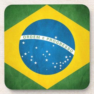 Brazil Flag Beverage Coasters