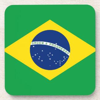 Brazil Flag Drink Coaster