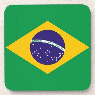 Brazil Flag Cork Coaster