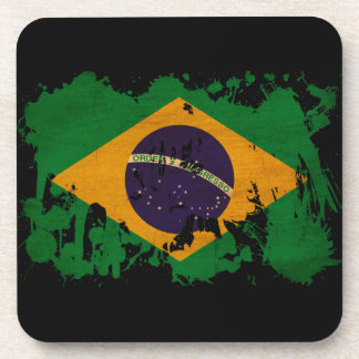 Brazil Flag Drink Coasters