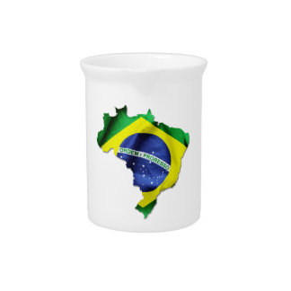 Brazil Flag Country Drink Pitcher