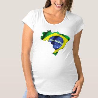 Brazil Flag Country Shape Maternity T-Shirt
