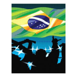 Brazil flag custom letterhead