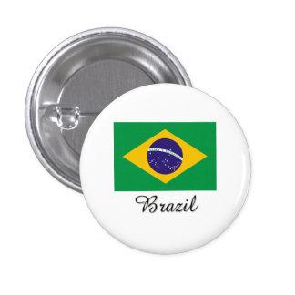 Brazil Flag Design 1 Inch Round Button
