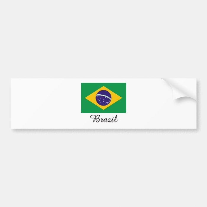 Brazil Flag Design Bumper Sticker