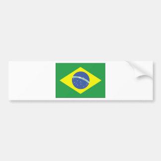 Brazil Flag Design Car Bumper Sticker