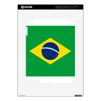 brazil flag design iPad 3 decal