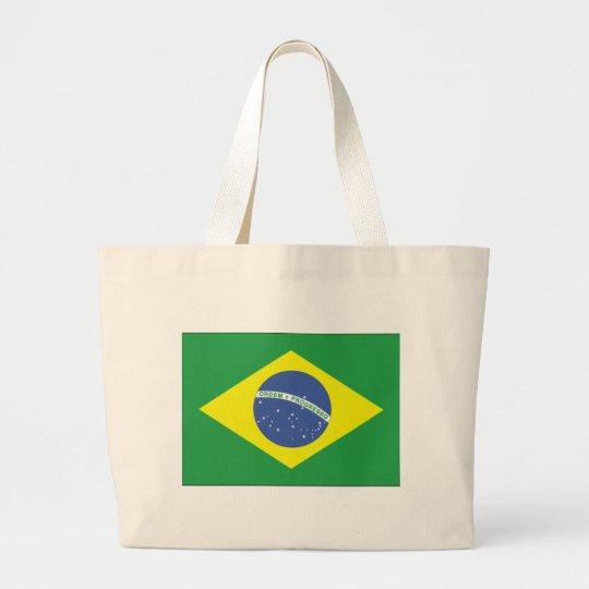 Brazil Flag Design Large Tote Bag