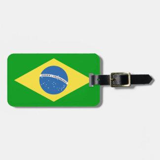 Brazil Flag Design Luggage Tag