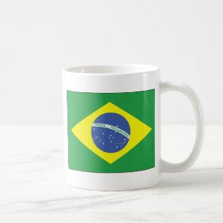 Brazil Flag Design Classic White Coffee Mug