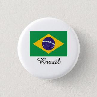 Brazil Flag Design Pinback Button