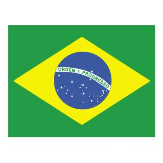 Brazil Flag Design Postcard