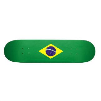 Brazil Flag Design Skate Board