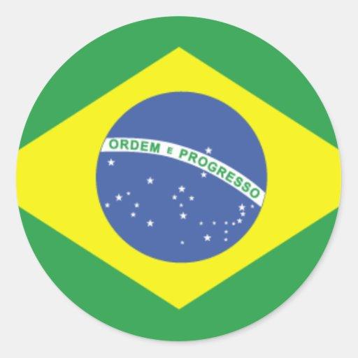 Brazil Flag Design Sticker