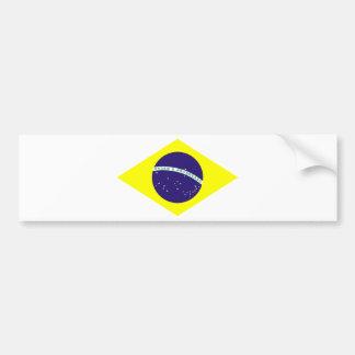Brazil Flag Diamond Bumper Sticker