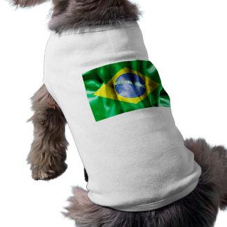 Brazil Flag Doggie Ribbed Tank Top Doggie T-shirt