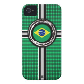 Brazil Flag Emboss Green iPhone 4 Case