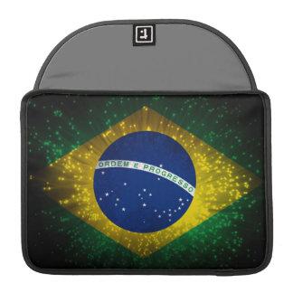 Brazil Flag Firework Sleeves For MacBook Pro