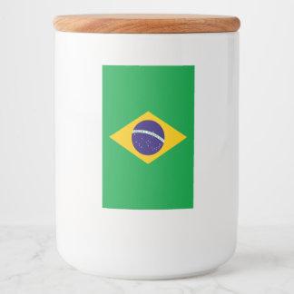 Brazil Flag Food Label