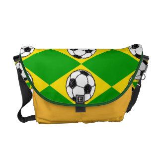 Brazil Flag | Football Sketch Messenger Bags