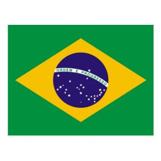Brazil flag for Brazillian fashion Postcard