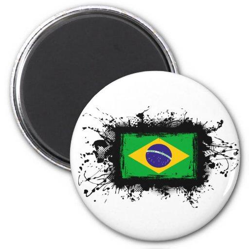 Brazil Flag Fridge Magnet