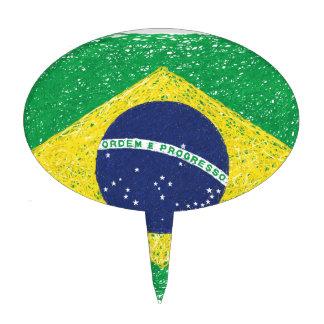Brazil Flag *Hand-sketch* Brazilian Cake Topper