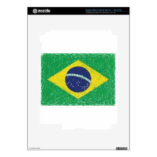Brazil Flag *Hand-sketch* Brazilian iPad 3 Skins