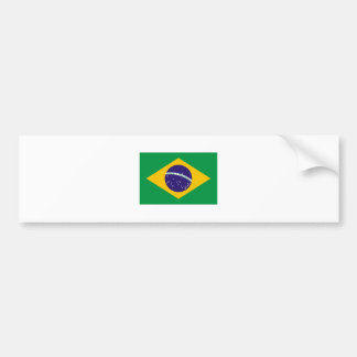 Brazil FLAG International Bumper Sticker