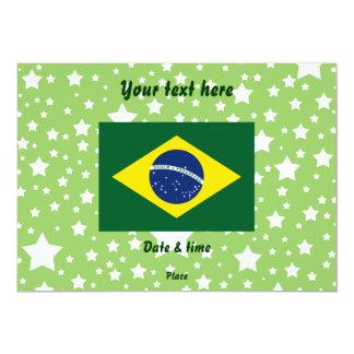 "Brazil flag 5"" x 7"" invitation card"