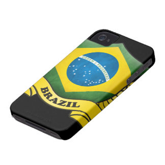 Brazil Flag iPhone 4/4S Case-Mate Barely There
